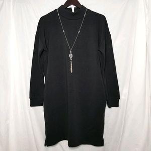 JOE FRESH black maxi sweater dress long sleeve XL